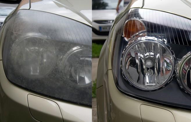 Autó fényszóró lámpa polírozás